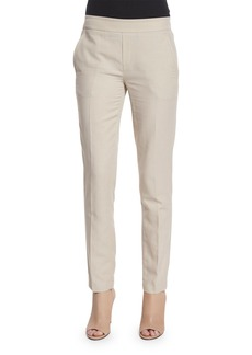 Vince Easy Narrow Cotton-Blend Pull-On Pants