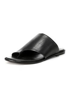 Vince Edris Flat Siviglia Leather Slide Sandal