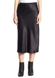 Vince Elasticized-Waist Midi Skirt