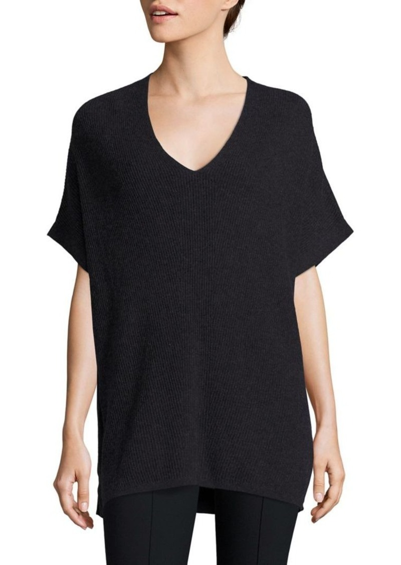 Vince Elbow-Length Sleeve Ribbed Tunic