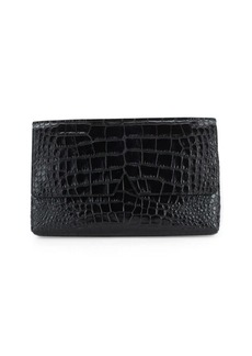 Vince Embossed Leather Clutch
