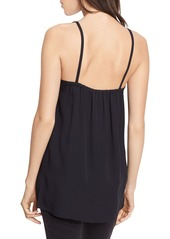 Vince Embroidered Silk Camisole Top