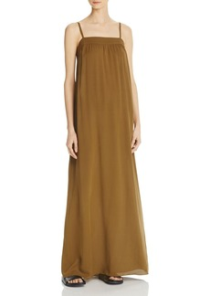 Vince Embroidered Silk Maxi Dress