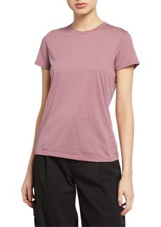 Vince Essential Crewneck Short-Sleeve Cotton Tee