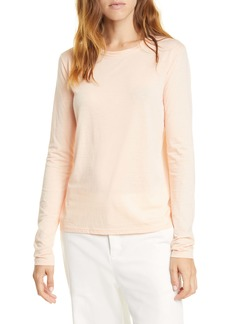 Vince Essential Long Sleeve Pima Cotton T-Shirt