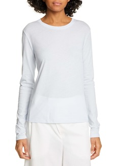 Vince Essential Long Sleeve Pima Cotton Tee