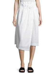 Vince Eyelet Wrap Midi Skirt