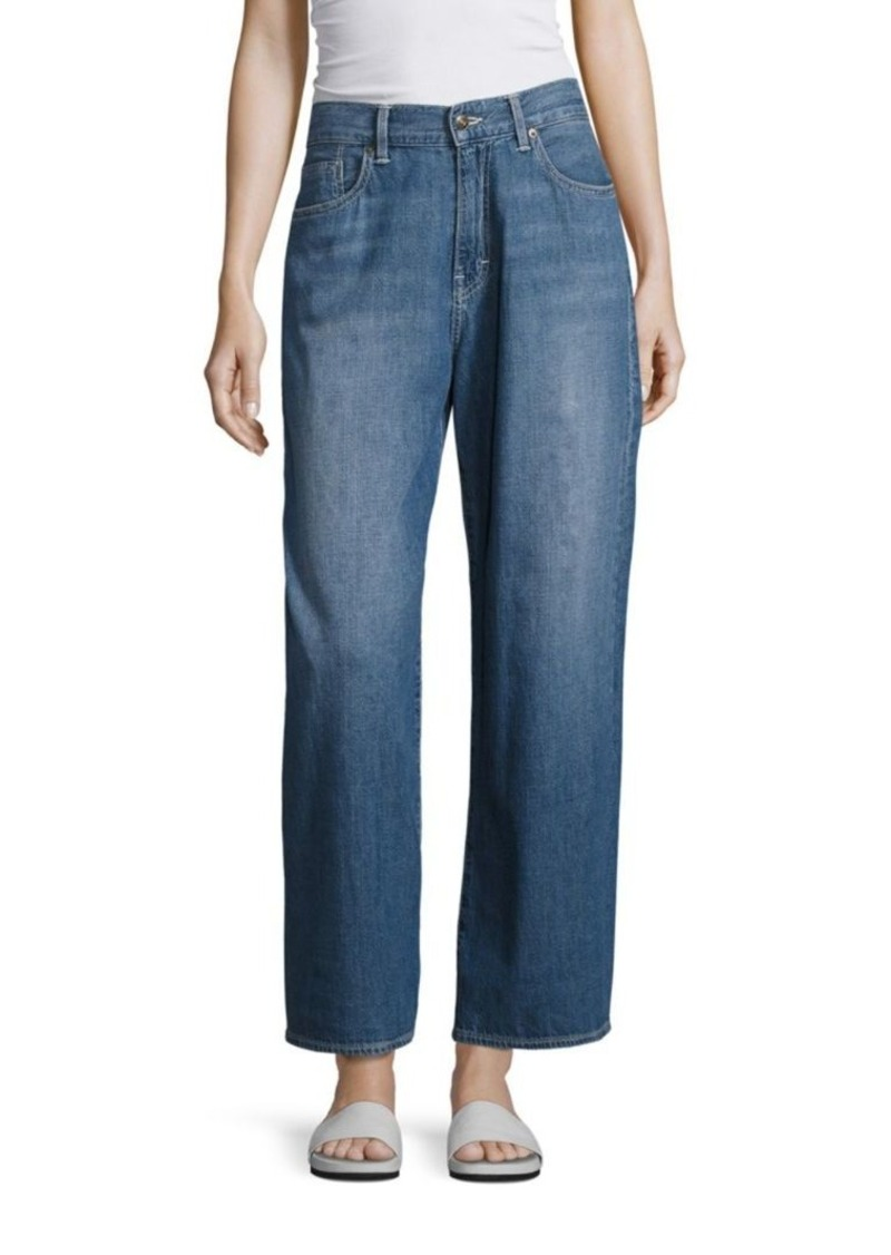 Vince Faded Five-Pocket Wide Leg Jeans