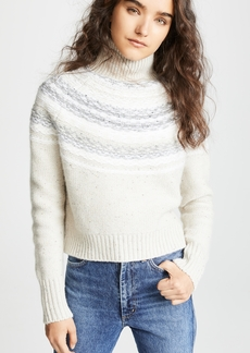 Vince Fair Isle Wool Turtleneck Sweater