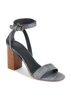 Vince Farley Python-Embossed Sandals