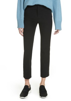 Vince Faux Leather Side Stripe Trousers