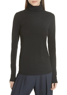 Vince Favorite Stretch Pima Cotton Turtleneck