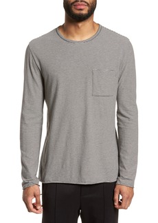 Vince Feeder Stripe Long Sleeve Pocket T-Shirt