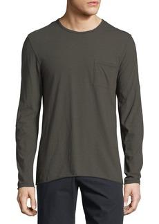 Vince Feeder Stripe Long-Sleeve T-Shirt