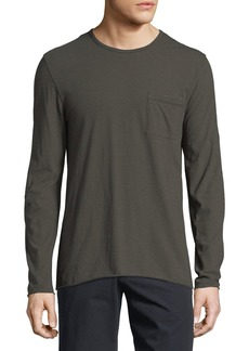 Vince Feeder Stripe Long-Sleeve T-Shirt