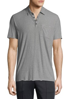 Vince Feeder Stripe Polo Shirt