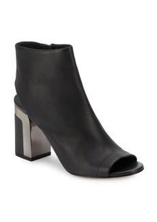Vince Fenmore Leather Block Heel Booties