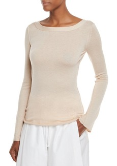 Vince Fitted Cashmere V-Back Top
