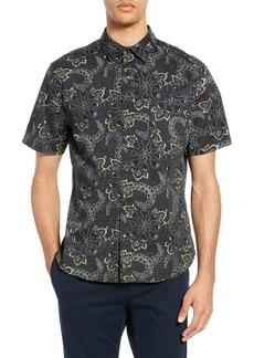 Vince Floral Slim Fit Sport Shirt