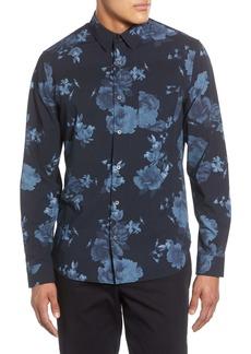 Vince Floral Print Classic Fit Button-Up Shirt