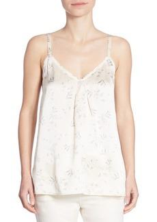 Vince Floral-Print Silk Camisole