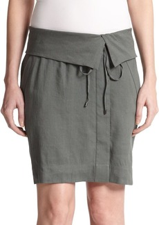 Vince Fold-Over Wrap Skirt