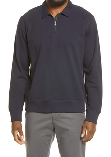 Vince Regular Fit French Terry Quarter-Zip Pullover