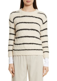 Vince Fuzzy Stripe Sweater