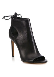 Vince Gabrielle Cutout Leather Peep-Toe Booties