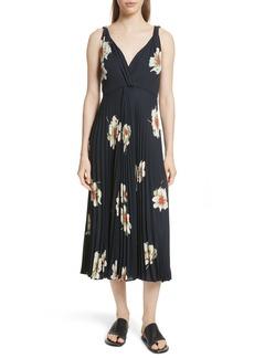 Vince Gardenia Floral Midi Dress