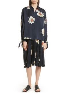 Vince Gardenia Floral Silk Blouse