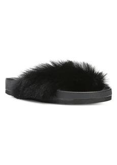 Vince Garrison Shearling & Leather Slides