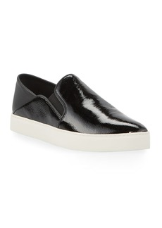 Vince Garvey Patent Leather Slip-On Sneakers