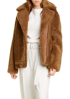 Vince Genuine Shearling & Leather Bomber Jacket
