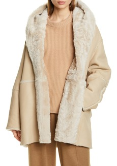 Vince Genuine Shearling Hooded Coat