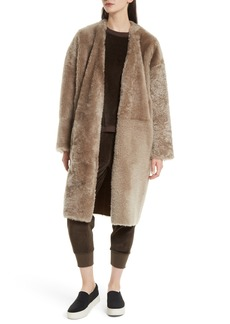 Vince Genuine Shearling Reversible Coat
