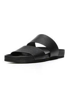 Vince Georgie Leather Flat Slide Sandal