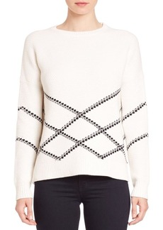 Vince Graphic Stitch Pullover Sweater