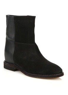 Vince Grayson Suede & Leather Ankle Boots