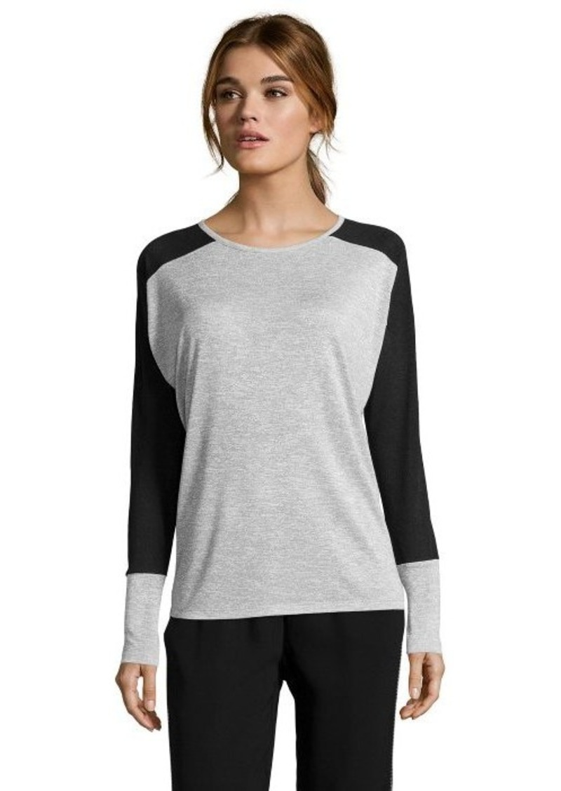 Vince vince grey and black colorblock jersey knit long for Vince tee shirts sale