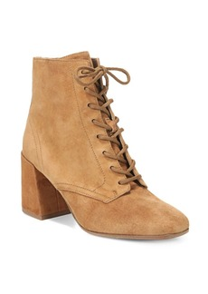 Halle Square Toe Suede Booties
