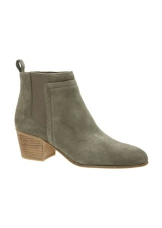 Vince Hallie Stacked Heel Suede Booties