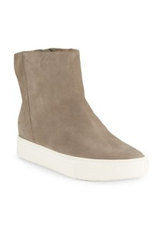 Vince Hardy Leather & Shearling High-Top Sneakers