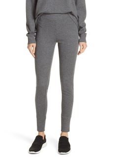 Vince Heathered Cotton Blend Leggings