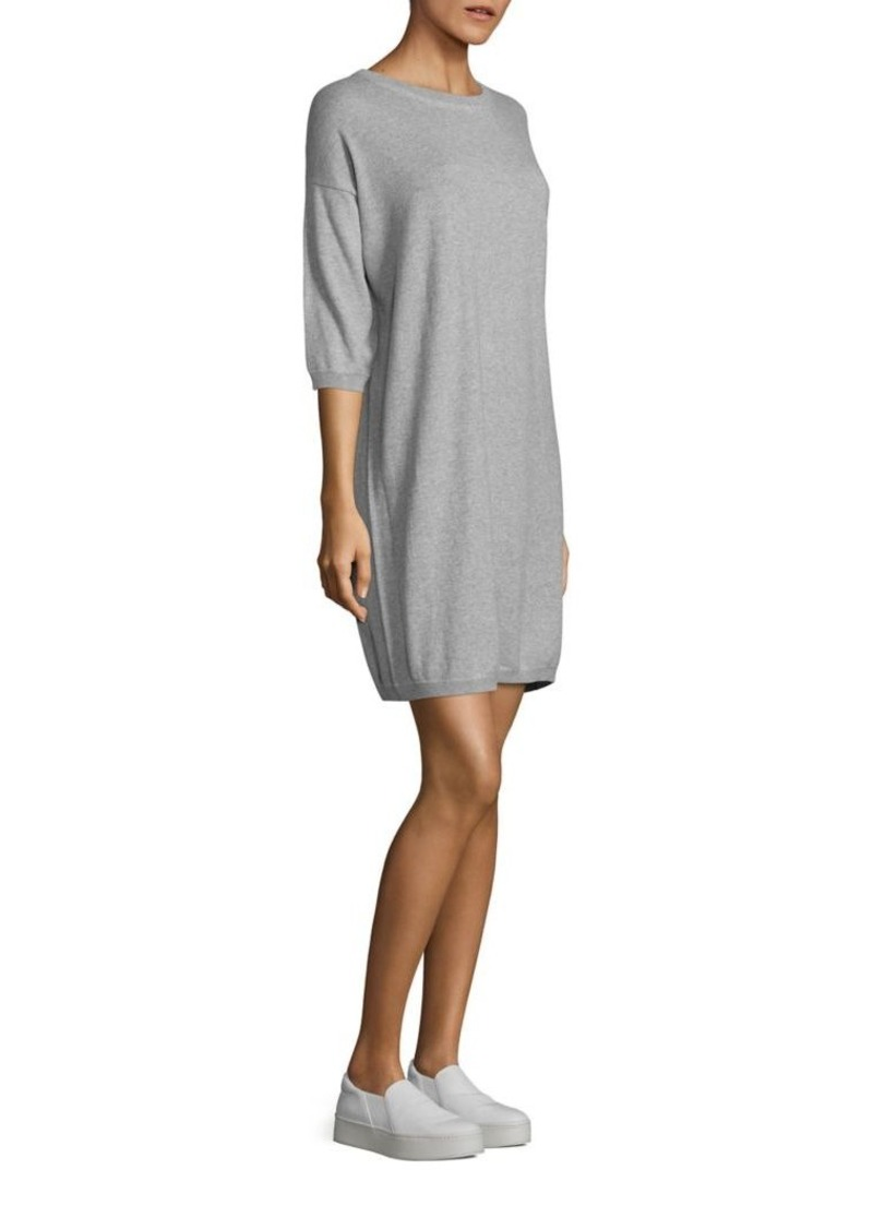 Vince Heathered Cotton Sweater Dress