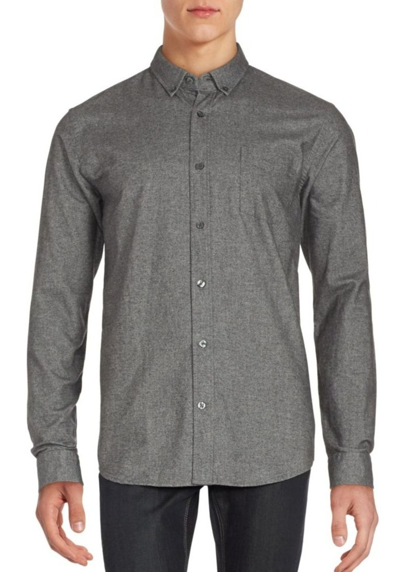 Vince Heathered Long Sleeve Sportshirt