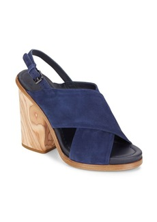Vince Helena Suede Crisscross Slingback Sandals