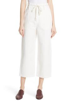 Vince High Rise Linen Cotton Crop Pants