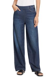 Vince High-Rise Side Zip Wide-Leg Denim Jeans