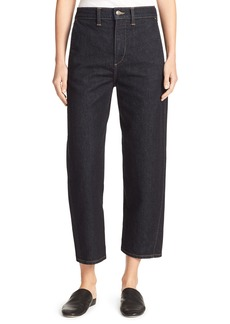 Vince High-Rise Utility Cropped Denim Jeans